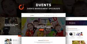 Dvents – HTML Template
