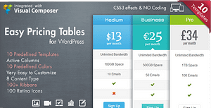 Easy Pricing Tables WordPress Plugin