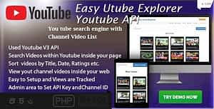 Easy Utube Explorer – Youtube API based Channel and Search