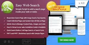 Easy Web Search – PHP Search Engine with Image Search and Crawling System