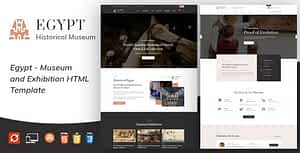 Egypt – Museum and Artists HTML Template
