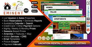 Eminent – Vacation Rental, Property Listing, Real Estate Portal, PHP Script