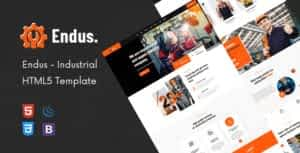 Endus – Industrial Manufacturing HTML Template