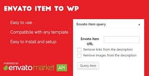 Envato item to WordPress post – WordPress plugin
