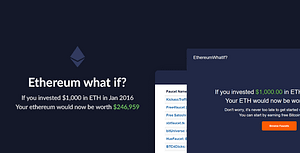 Ethereum What If? – Historic Investment Calculator