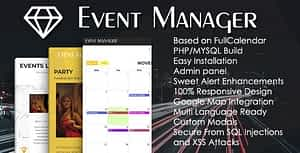Event Manager PHP Script + Admin panel