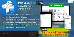 FTP Made Easy Lite – PHP FTP Client with Code Editor