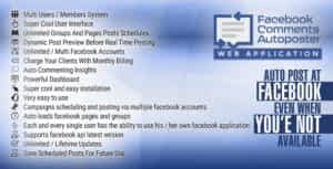 Facebook Comments Multiple users, Multiple pages comments scheduler and messenger auto poster script