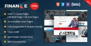 Finance – Corporate and Business HTML Template
