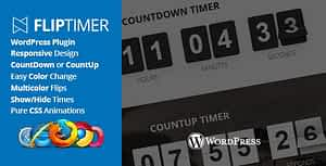 FlipTimer – jQuery Countdown Timer WordPress Plugin