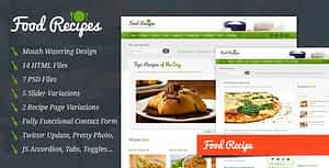 Food Recipes – HTML Template