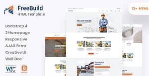 FreeBuild – Construction HTML Template