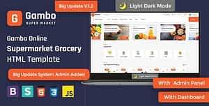 Gambo – Online Grocery Supermarket HTML Template