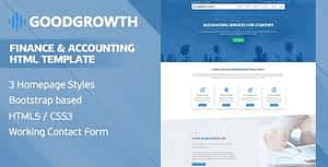 GoodGrowth – Finance & Accounting HTML Template