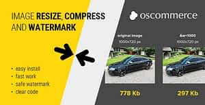 Image resize, compress and watermark for osCommerce