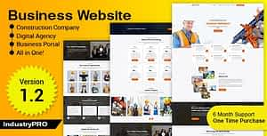 Industry PRO – Multipurpose Construction Builder and Agency Website Script