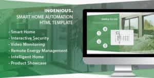 Ingenious – Smart Home Automation HTML Template