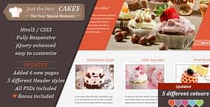 JustCakes – Cake Bakery HTML template