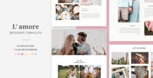 L'amore – Wedding HTML Template