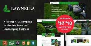 Lawnella – Gardening and Landscaping HTML Template