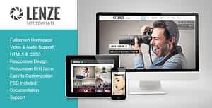 Lenze – Portfolio Photography HTML Template