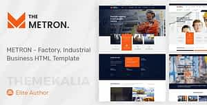 METRON – Industrial Business HTML Template
