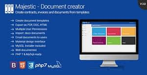Majestic – Create documents from templates. Generate contracts and invoices