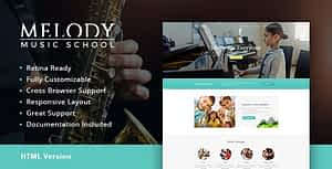 Melody | Music School HTML Template