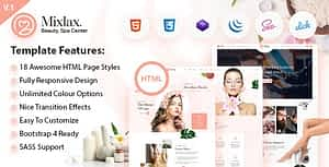 Mixlax- Spa Beauty Salon HTML Template