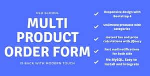 Multi Product Order Form