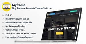 Myframe – Tiny Live Preview Frame & Theme Switcher