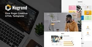 Nagrand – One Page Creative HTML Template