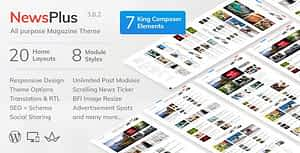 NewsPlus – News and Magazine WordPress theme