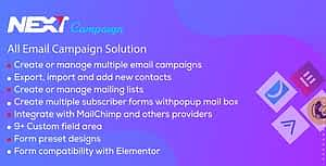 Next Campaign – Manage Contacts / Email Marketing / Subscribe for WordPress Plugin