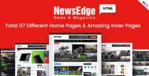 NwsEdge – News & Magazine HTML Template