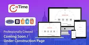 OnTime – Coming Soon / Under Construction / Time Counter PHP Script with Admin panel