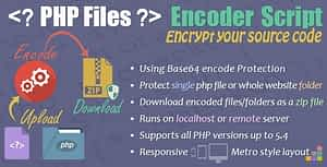 PHP Files Encoder Script – Responsive Metro Style