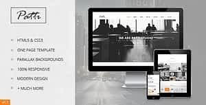 Patti – Parallax One Page HTML Template