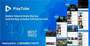 PlayTube – Mobile Video & Movie Sharing Android Native Application (Import / Upload)