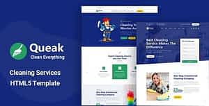 Queak – Cleaning Service HTML Template