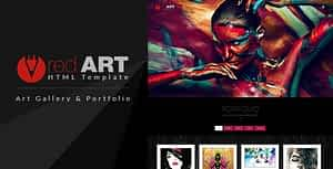 Red Art – Gallery and Photography HTML Template