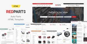 RedParts – Auto Parts HTML Template