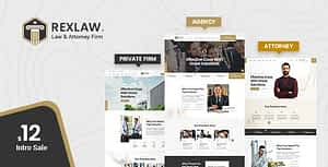 Rexlaw – Law Lawyer and Attorney HTML Template