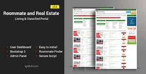 Roommate and Real Estate Listing Classified Responsive Web Application