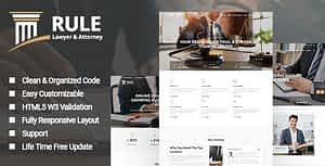 Rule – Lawyer & Attorney HTML Template