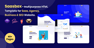 Saasbox – Multipurpose HTML Template for Saas & Agency