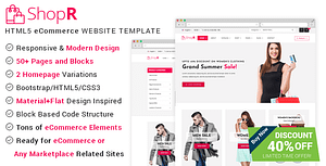 ShopR – eCommerce HTML Template