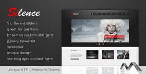 Silence – Premium HTML Template