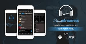 Streamz – A music streaming android app with admin panel
