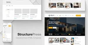 StructurePress – Construction, Building HTML Template